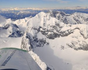 Airplane scenic flight in slovenia