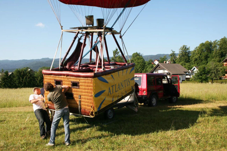Balloon flight in Slovenia