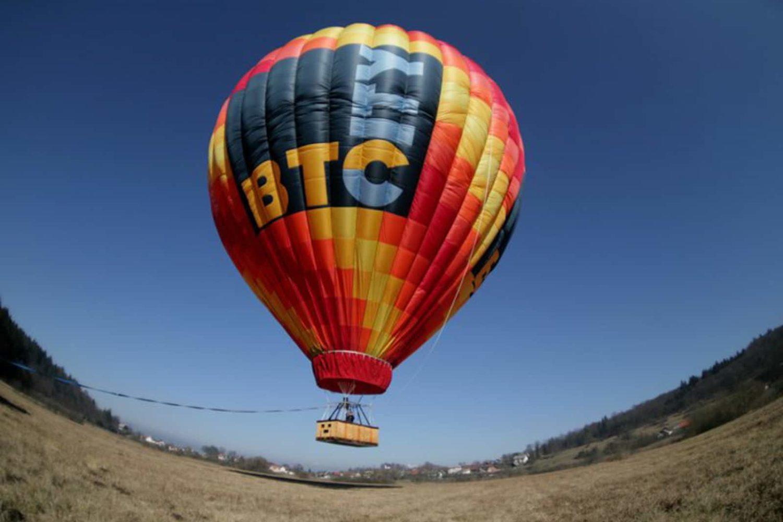 Balloon flight above triglav national park