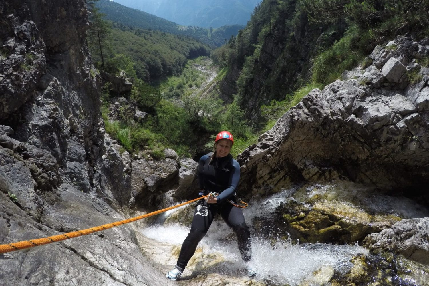 Canyoning in Soča river