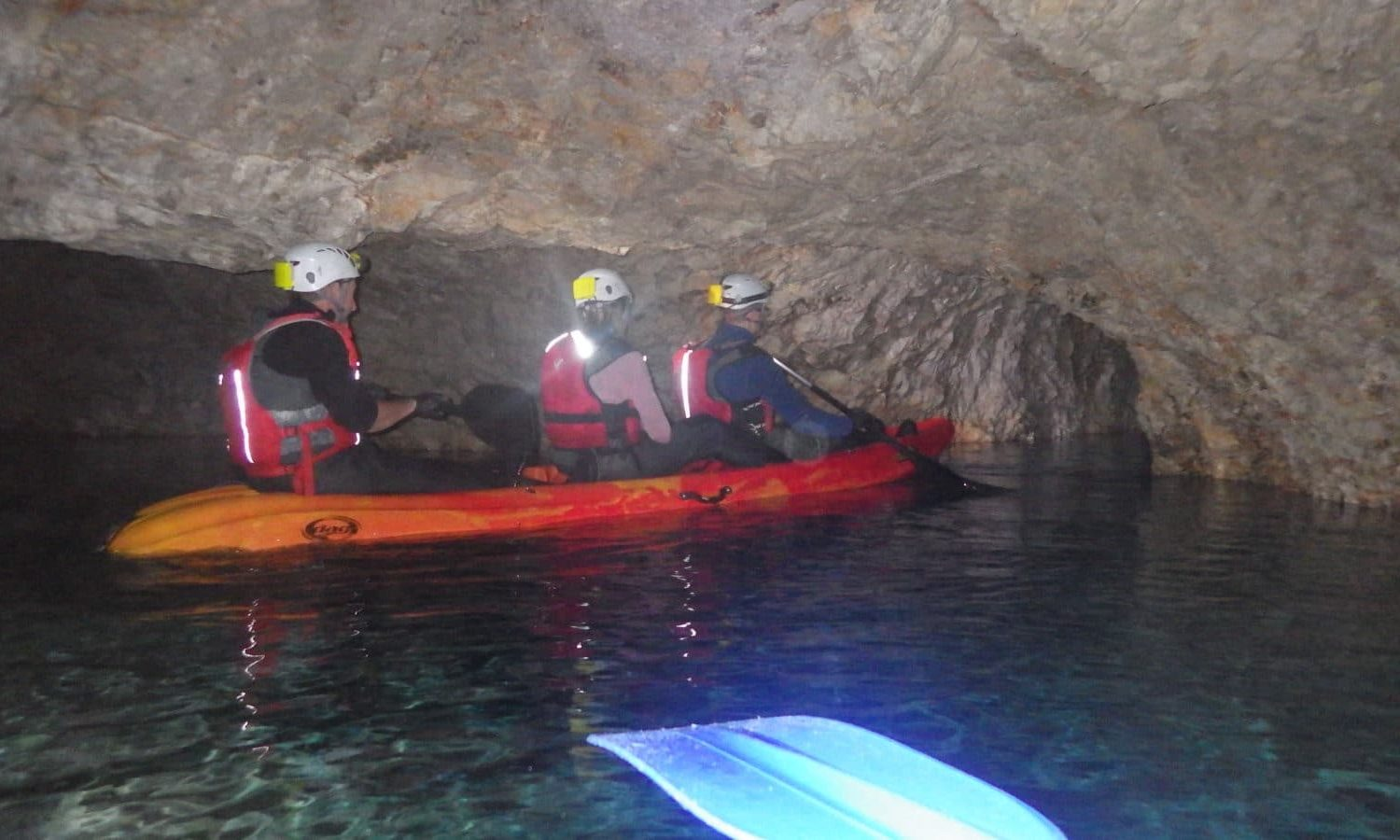 Cave kayak in Mežica