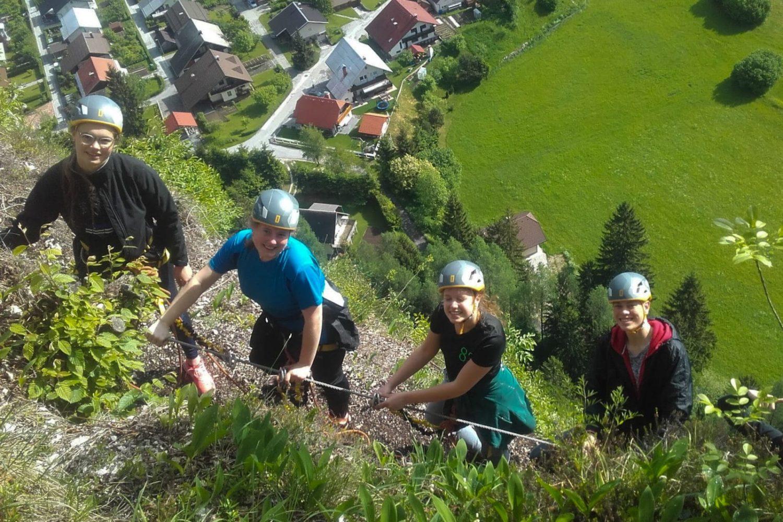 Climbing around Bled