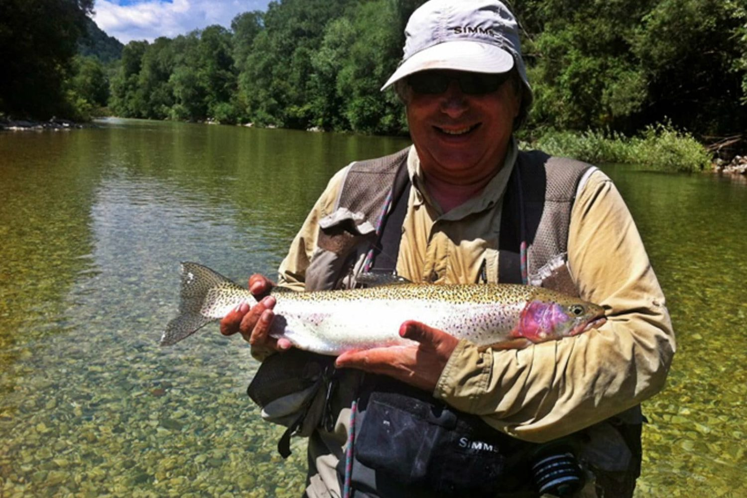 Fly fishing on Sava