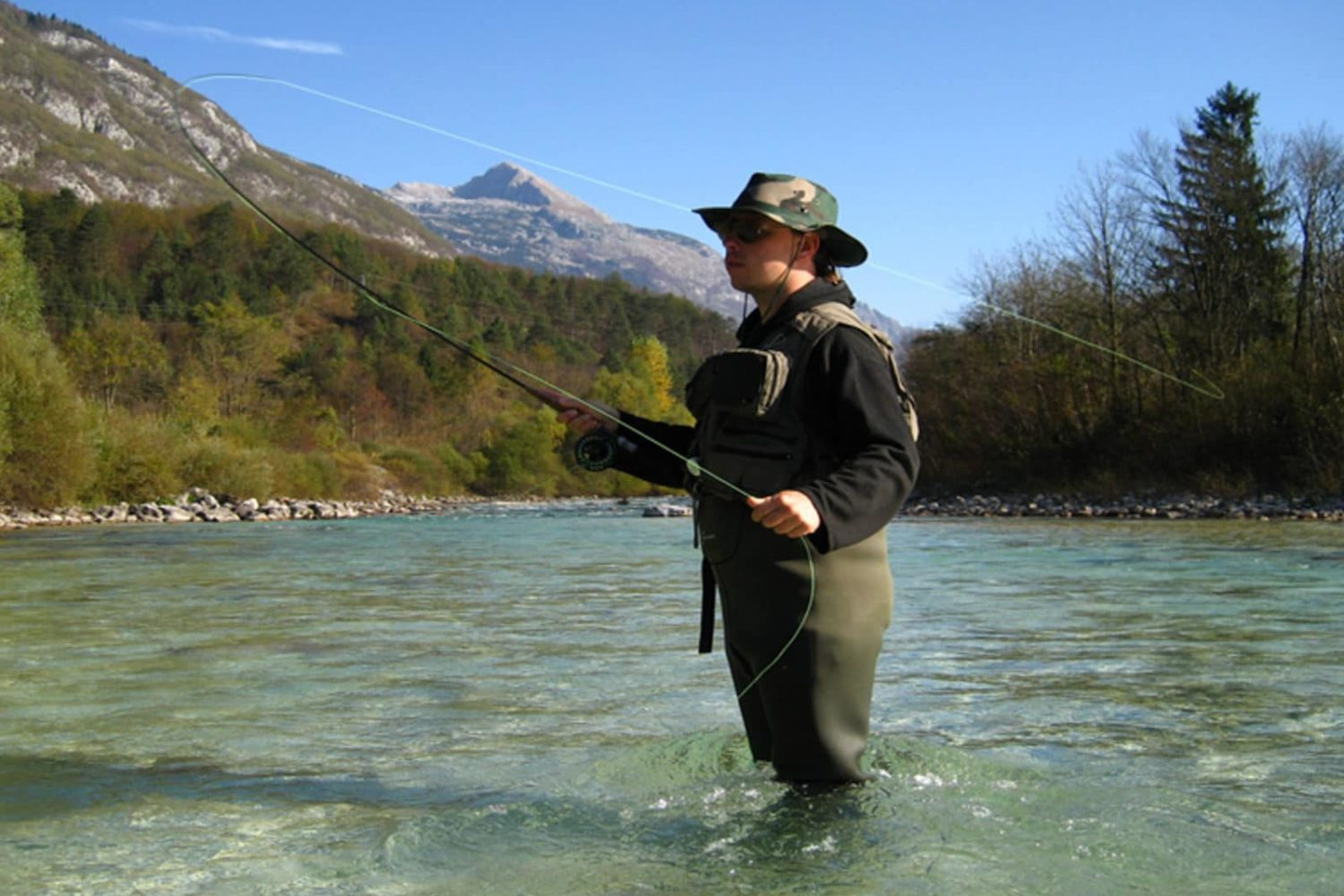 Fly fishing in rivers