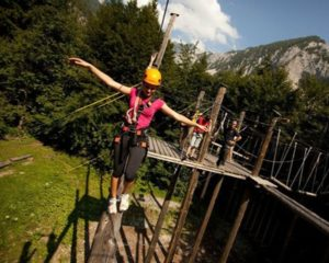 High ropes course in Slovenia