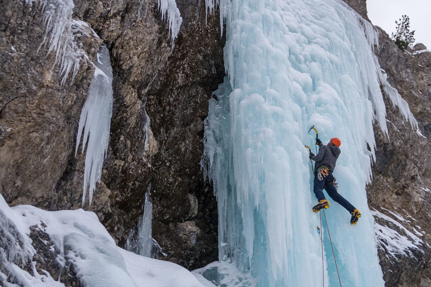 Ice climbing from Bled