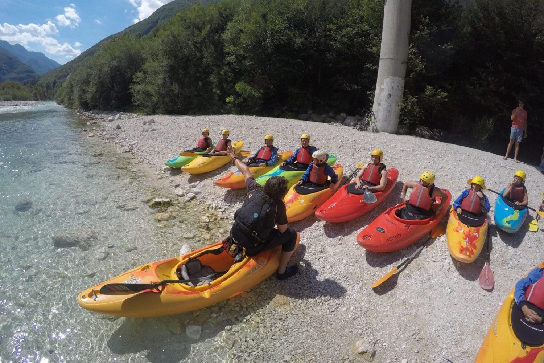 Kayaking in Bovec valley