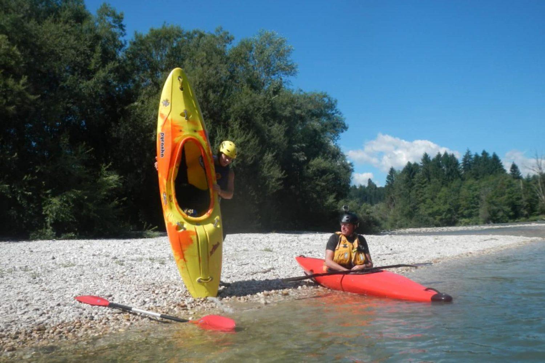 Kayaking at lake Bled
