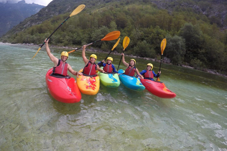 Kayaking on Soča