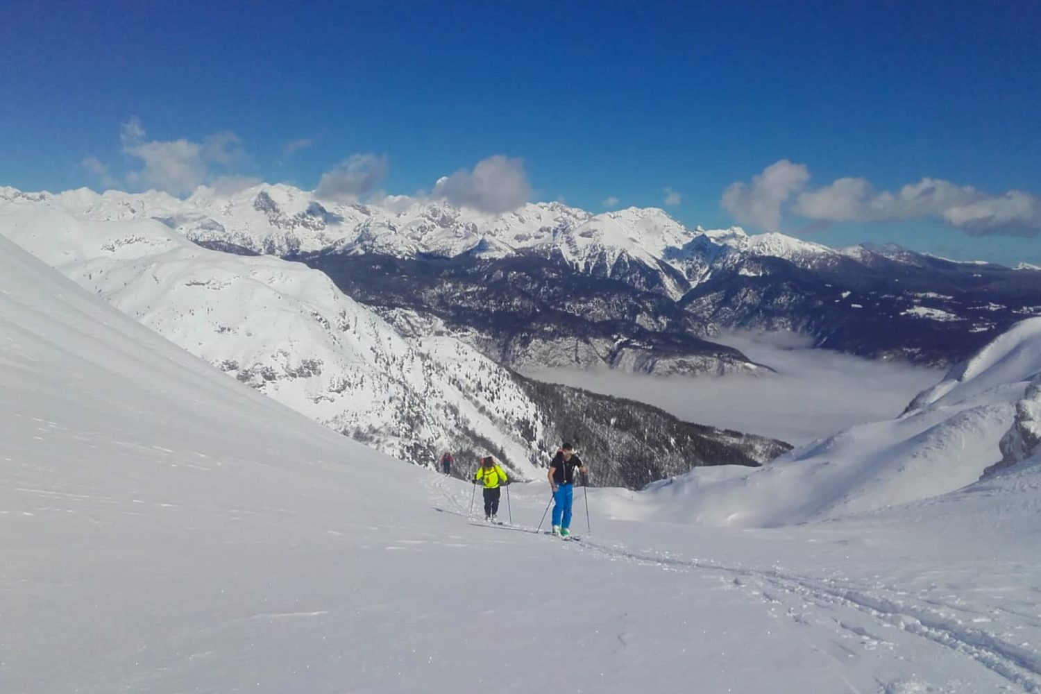 Ski touring in Slovenian Alps