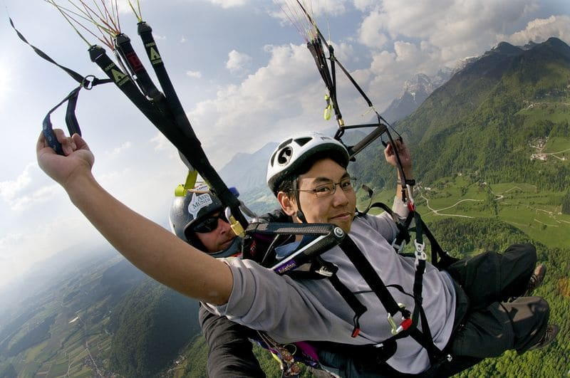 The best paragliding in Bled