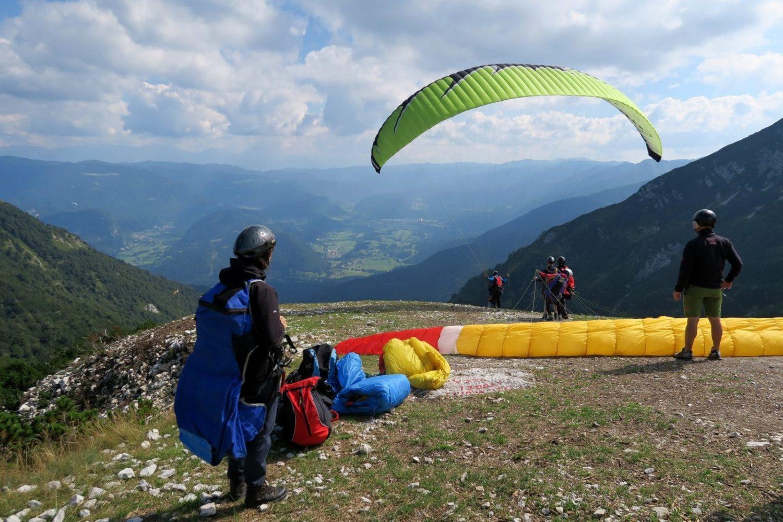 Paragliding from Vogar