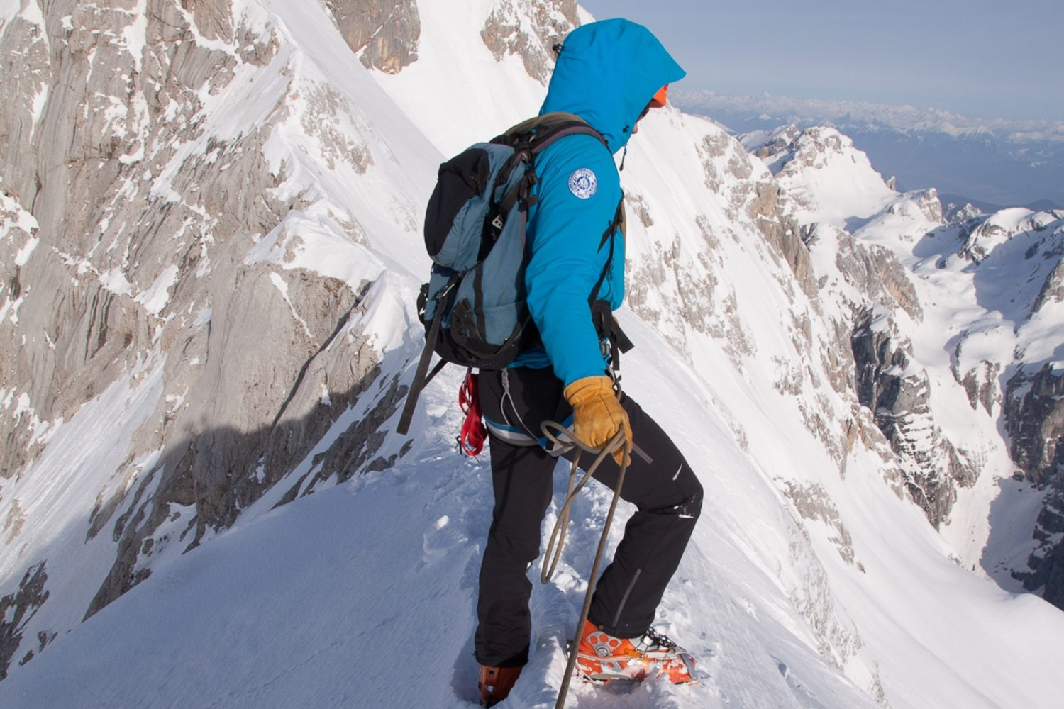 Winter mountaineering in Bled