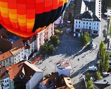 Polet z balonom nad Ljubljano