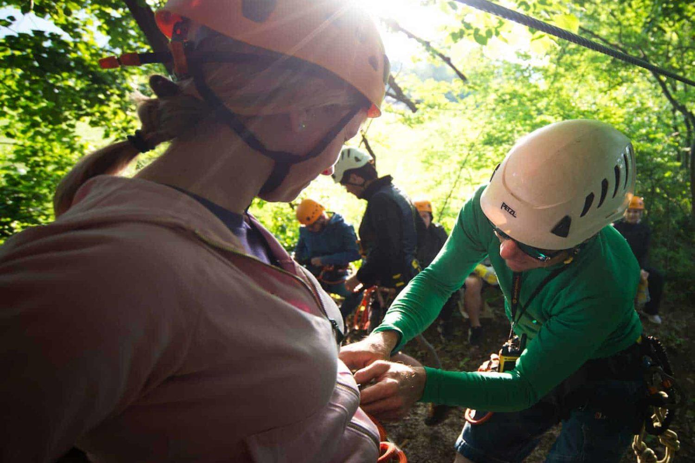 Join us on the best zipline in Bled above Sava Dolinka river